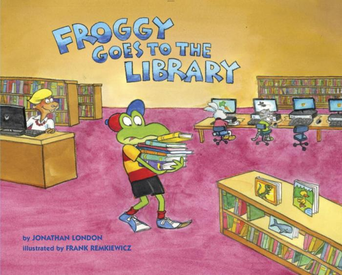 Froggy Goes to the Library Review Book Written by: Jonathan London Illustrated by: Frank Remkiewicz