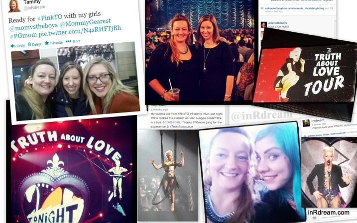 PINK Truth about love tour in Toronto Covergirl Party