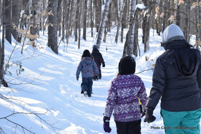 Family Day weekend 2015 Ontario Pioneer Camp. Winter Hike