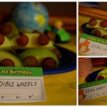 Edible Wheels, Birthday Party healthy snack idea, Around The World First Birthday party with Fisher Price Little People City Skyway