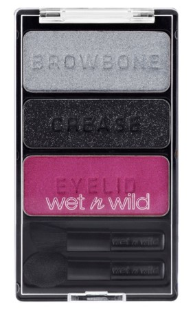 "Wet n'Wild Color Icon™ Eyeshadow Trio ""How To"" palette embossed with ""eyelid,"" ""crease,"" and ""browbone"" for easy application"
