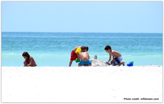 Kids playing in St.Petes Beach Florida, Kids making sand castle, Canadian Travel Blogger