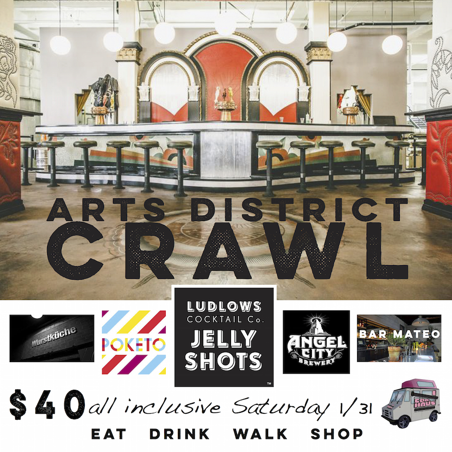 Hey LA! Get Fancy and Crawl with Ludlows Cocktail Co.!