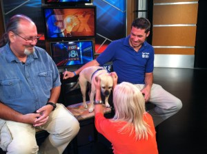 Video: Doggie Brigade delivers the right brand of medicine for busy news crew at FOX 8