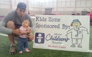 Bekah and Chris had fun at the Kids Zone at the Youngstown Heart Walk.