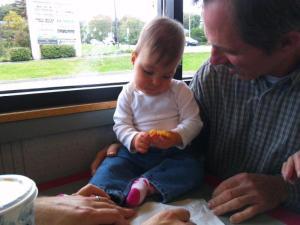 Grandpap gives Bekah an onion ring
