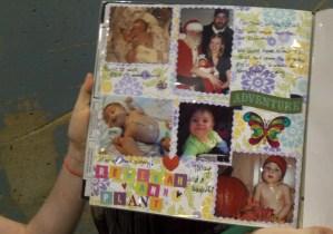 Bekah's scrapbook page