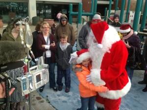 Santa's 'Flight before Christmas' brings smiles to those in need of cheer