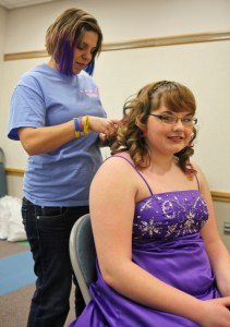 "Taylor's Angels provided the ""get ready for prom"" salon service for the girls"