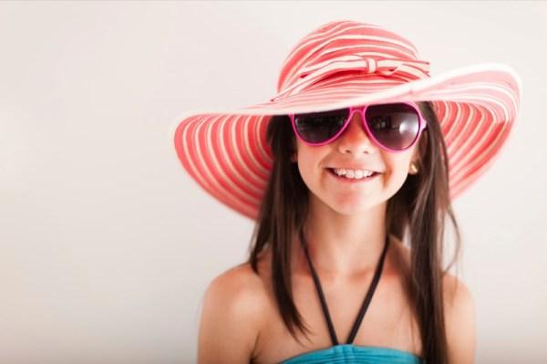 Happy summery girl