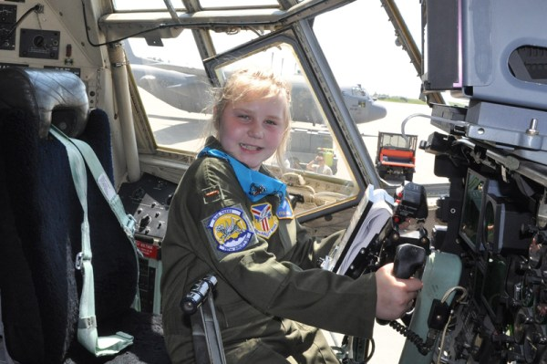 As part of the Pilot for a Day program, Kylee Vidas spent an action-packed day at the Youngstown Air Reserve Station, suiting up in a genuine aircrew flight suit and taking the official oath of office.