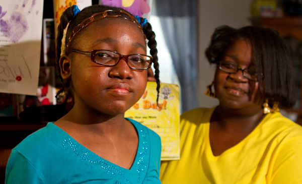 During Kiarah's stay in the hospital, Margaret (right) said she couldn't imagine taking her anywhere else.