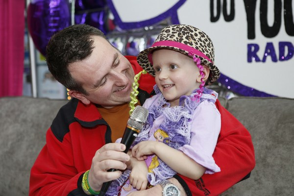 Fiona and her dad shared their story on air, during the 15th annual Radiothon.