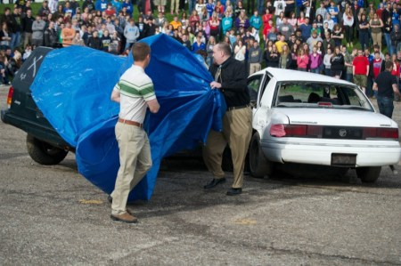 The dramatization was timed before the start of the year-end prom and grad party season.