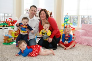 Maughan triplets turn 1, celebrate a 'super' year