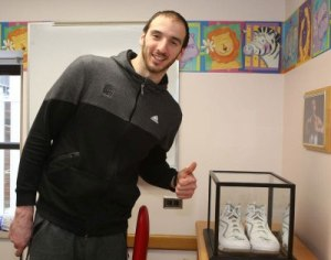 Akron Children's has a special connection for Kosta Koufos
