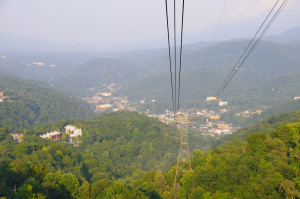 Aerial Tramway leading up to Ober Gatlinburg