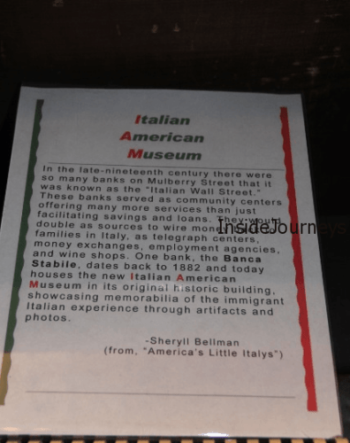 The Italian American Museum in Manhattan's Little Italy