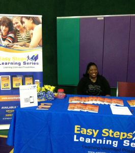 "Paula Smith, author of ""Easy Steps Learning Series,"" participates in the agape Christian Center Back To School Bash in Arlington, Texas, on Aug. 10. East Steps gave away school supplies, calculators, and ITUNES gift cards to visitors."