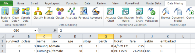 excel sql server data mining tab enabled yay