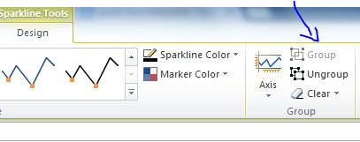 Excel Sparkline Group