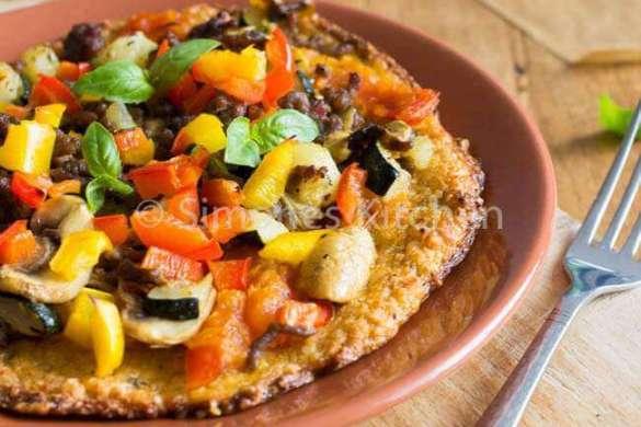 Pizza op de paleo manier