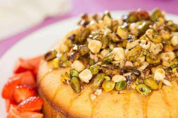 Honey pistachio cake | insimoneskitchen.com