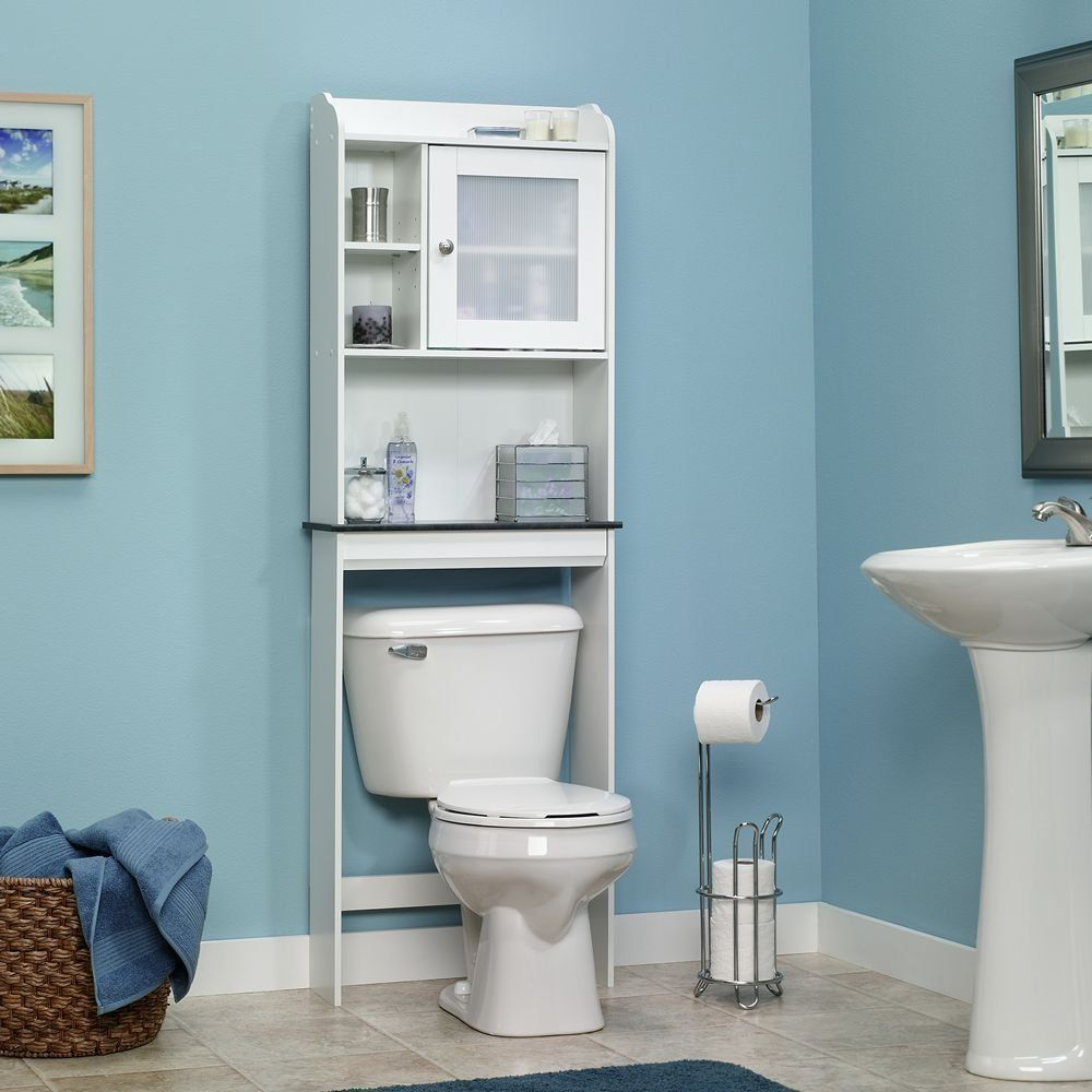 Adornar Baño Pequeno:Bathroom Storage Over Toilet Shelf