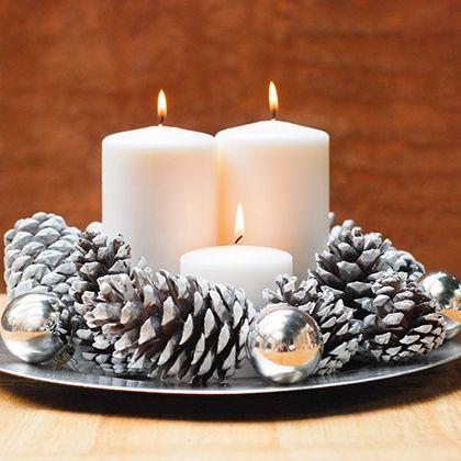 10 centros de mesa navide os para estas fiestas for Centros de mesa navidenos elegantes