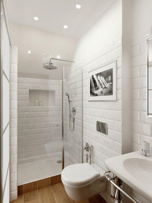 Baño Azulejos Pequenos:Ideas de decoración de baños pequeños, alargados y estrechos