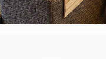 Decoraci n de una sala peque a en gris interior moderno - Mesita auxiliar sofa ...
