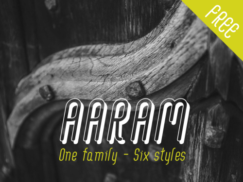 aaram free font by tharique azeez 50 Free Fonts Youll be Tempted to Download