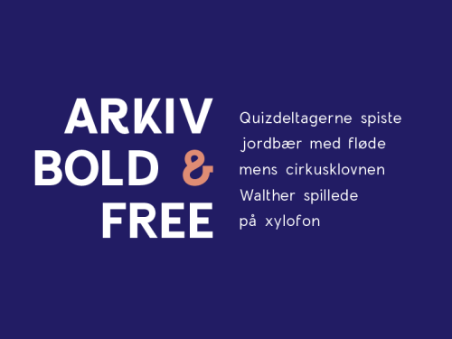 arkiv bold freebie by timo kuilder 50 Free Fonts Youll be Tempted to Download