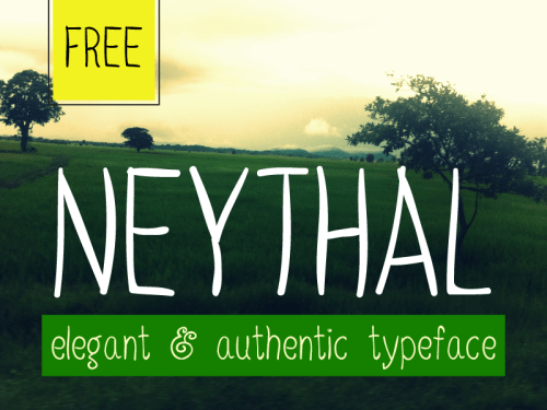 neythal free font by tharique azeez 50 Free Fonts Youll be Tempted to Download