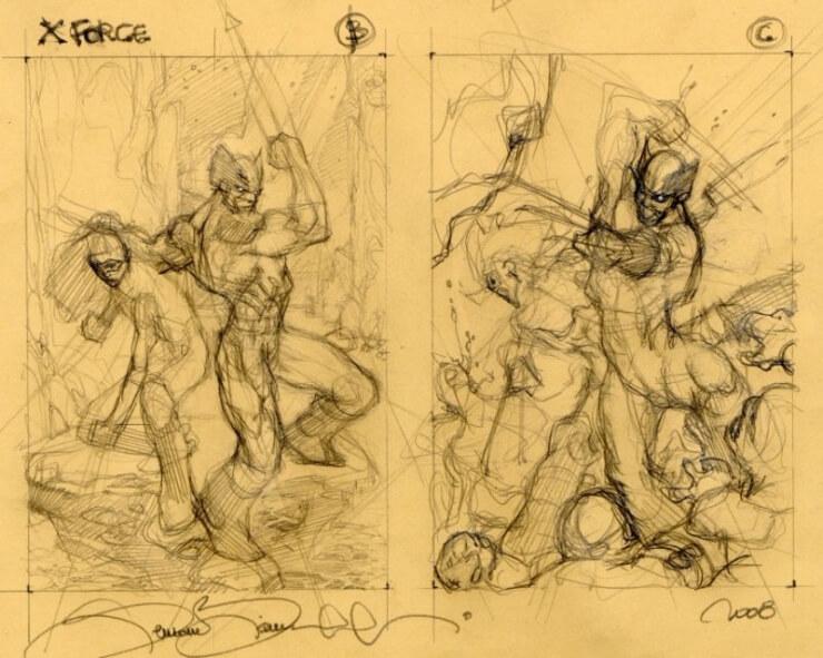 xforce cover sketch B C