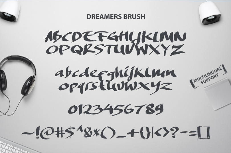 Free Handcrafted Brush Font