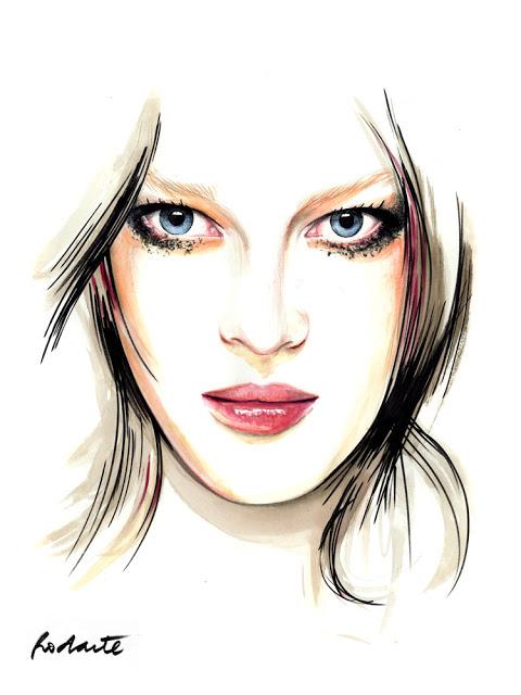 fashion portrait illustration
