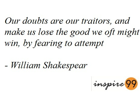 doubts quotes, fears quotes, fears, facing fears, what is fear, self doubts, shakespear on fear, shakespear fear quotes, inspirational quotes, quotes motivation