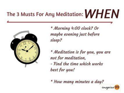 best time to meditate, best ways of meditation, when to meditate, when is the best time to meditate
