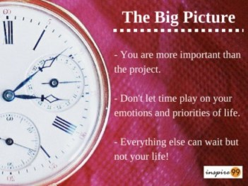 big picture in time management, priorities in time management, time management