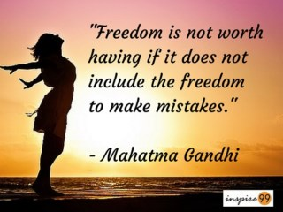 freedom to make mistakes in life, I am afraid of making mistakes, I don't want to take a wrong decision in life, making mistakes in life, self improvement and mistakes in life