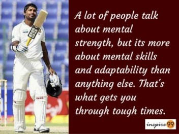 A lot of people talk about mental strength - Kumar Sangakkara motivational Quotes