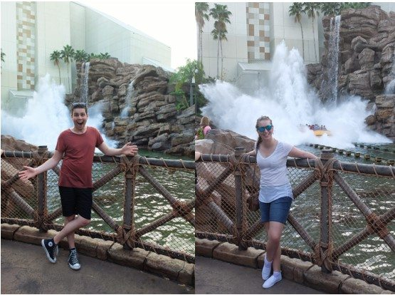 A word to the wise – Don't wear a white t-shirt at theme parks with water rides…
