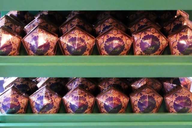 Chocolate Frogs all come with collectors cards of a famous witch or wizard