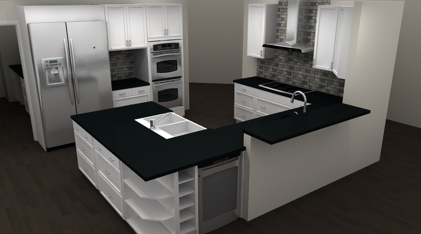 like mullet 80s kitchen gone out of style ikea kitchen remodel IKEA Kitchen Remodel Brandon Render 1