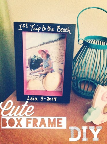 Cute box frame DIY