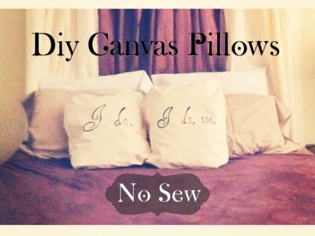 DIY Canvas Pillows- No Sew