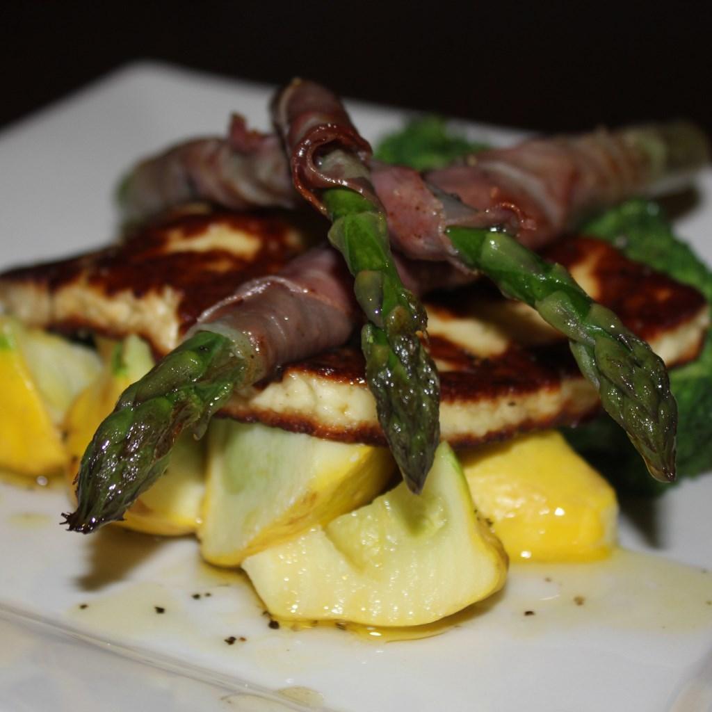 haloumi_pancetta_asparagus_lemon_dressing