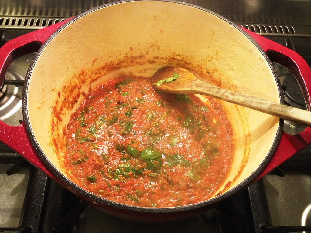 Tomato-based Indian curry sauce
