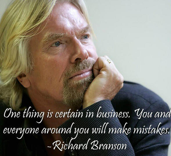 Richard Branson quote on failure